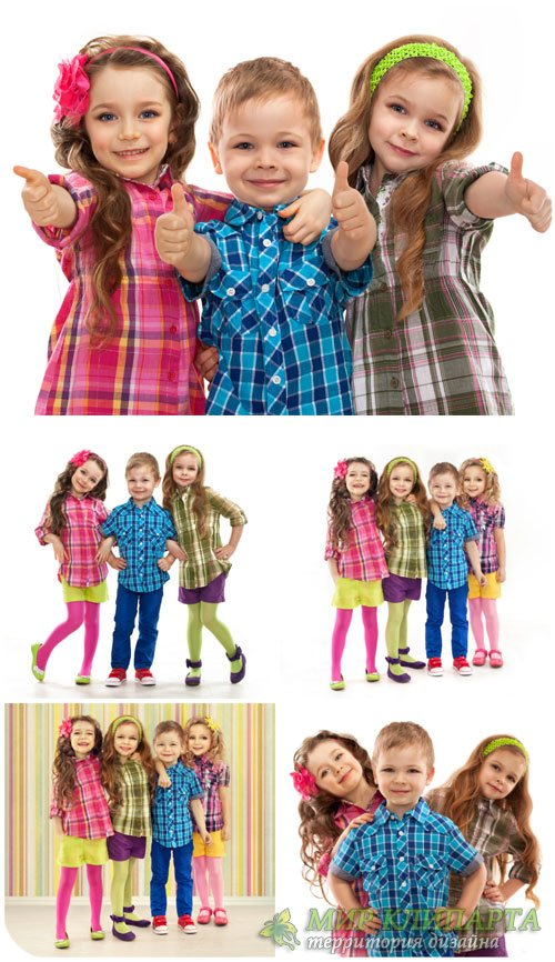 Дети, девочки и мальчик / Children, girl and boy - Stock Photo