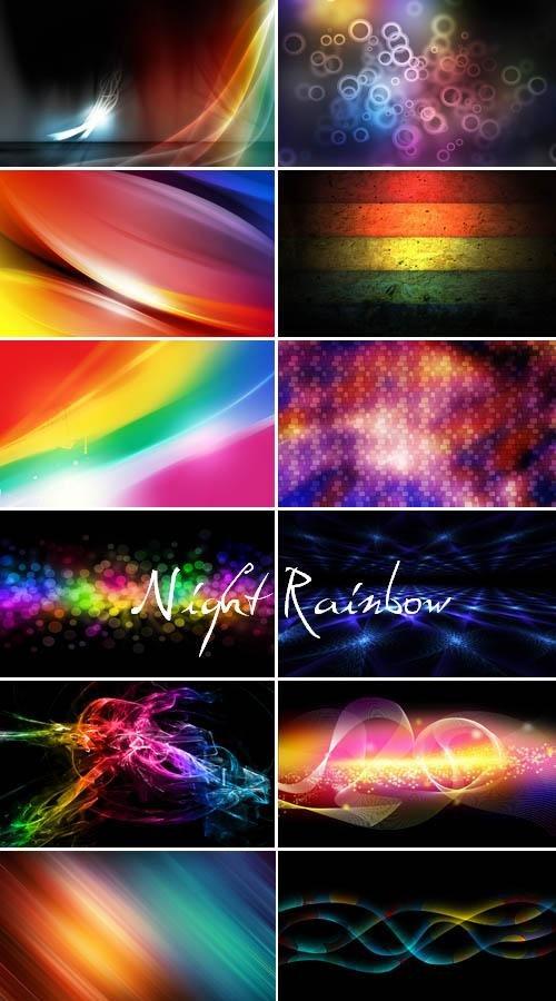 Ночная радуга (набор абстрактных фонов)