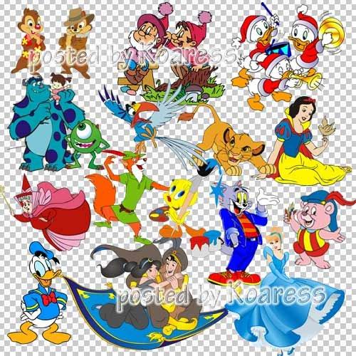 Png клипарт на прозрачном фоне - Персонажи любимых мультфильмов