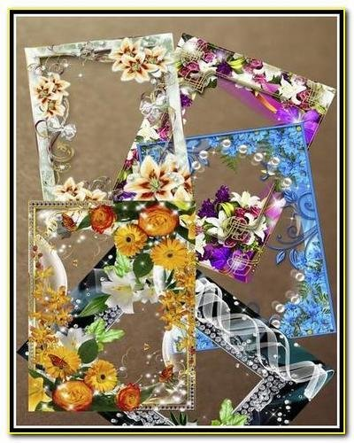 Цветочные рамки для фото в формате PNG / Flower frame for photo in PNG