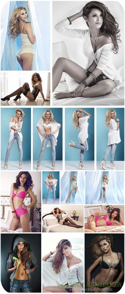 Модные девушки, девушки в нижнем белье / Fashionable girls, girls in linger ...