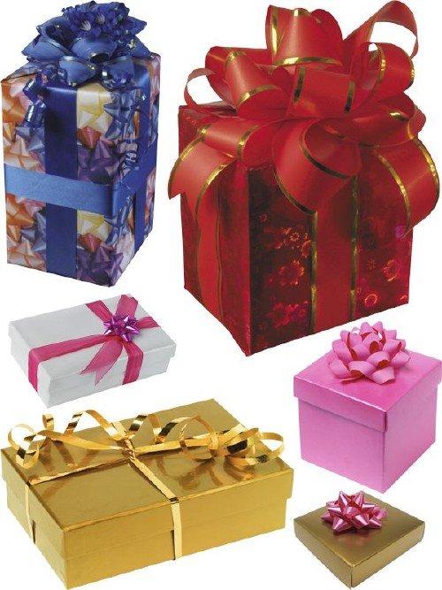 Подарочная упаковка: Коробка с бантом (подборка изображений)