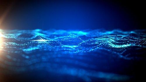 Футаж Абстракция Синяя Волна HD / Abstract Light Flares HD