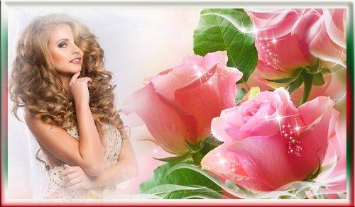 Рамка для фотографии - Розовая роза для тебя