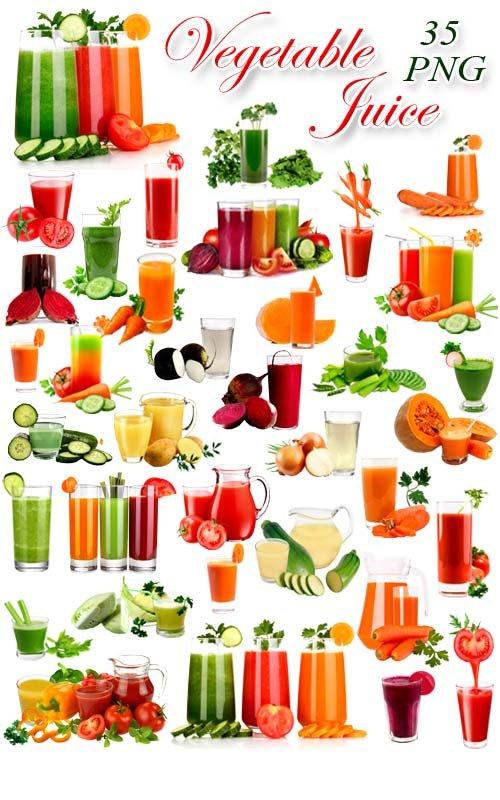 Сок Овощной - Клипарт на прозрачном фоне / Vegetable Juice