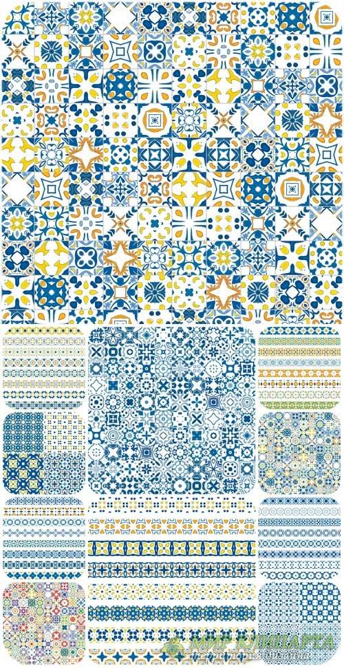 Узоры, фоны в векторе / Patterns, texture, backgrounds vector
