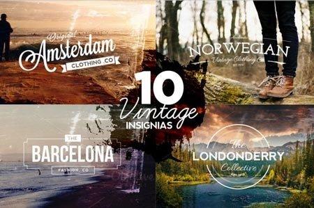 Creativemarket 10 Vintage Insignias & Textures 39248