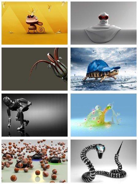 Сборник обоев  для рабочего стола в картинках 3D графики выпуск 9