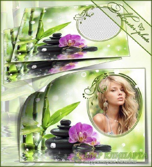 Летняя рамка для фотошопа - Бамбуковый рай