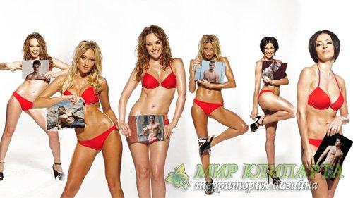Рамка для фото - 6 фото у красивых девушек