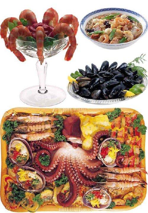 Фотосток: блюда из морепродуктов