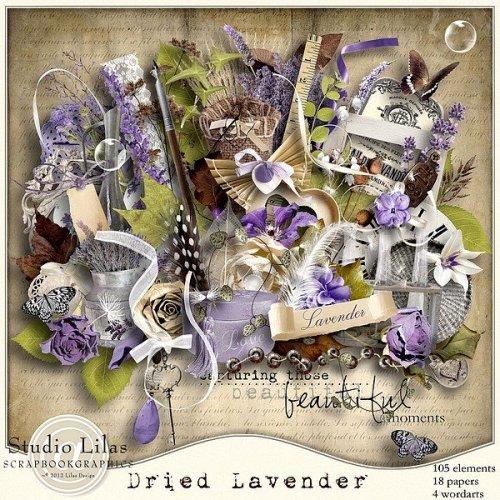 Скрап-набор Dried lavender
