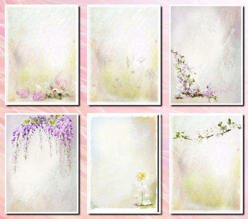 Фоны цветочные  для дизайна и творческих работ, формат А4