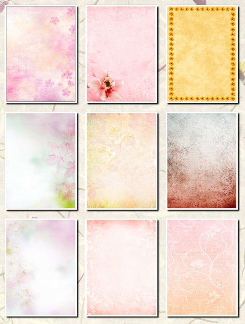 Фоны цветочные  для творческих работ
