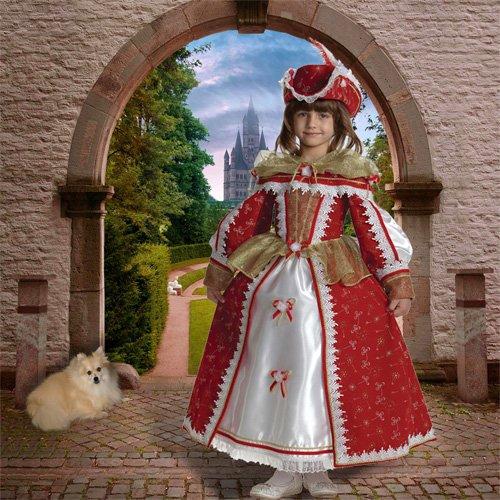 Шаблон  детский  ''Прогулка перед замком''