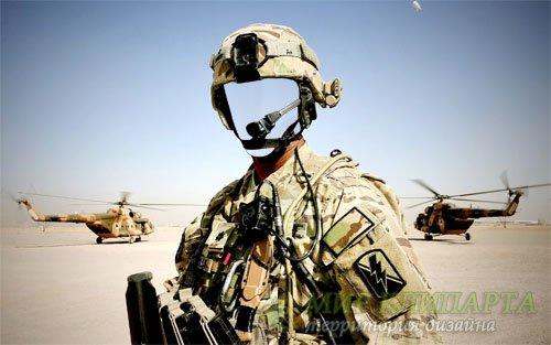 Военный в форме - Шаблон мужской