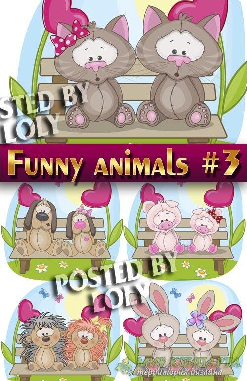 Веселые животные #3 - Векторный клипарт