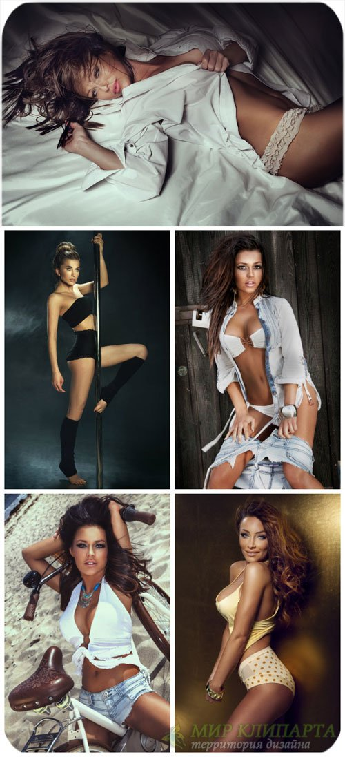 Девушки, женщины в нижнем белье / Girls, women in lingerie - Stock Photo