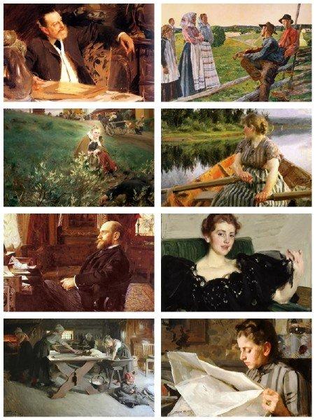 Сборник картинок живописи Андерса Цорна