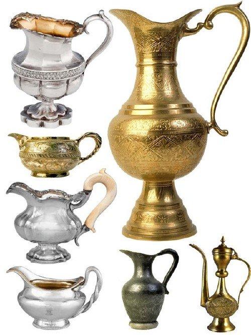 Посуда: Кувшины медные, бронзовые, железные (подборка изображений)