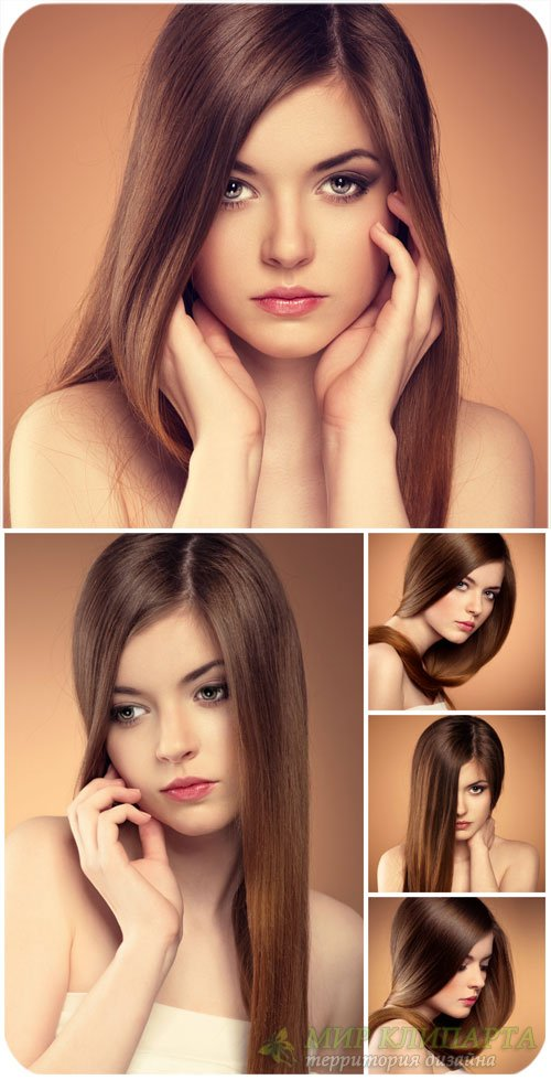 Красивая девушка с длинными ровными волосами / Beautiful girl with long str ...