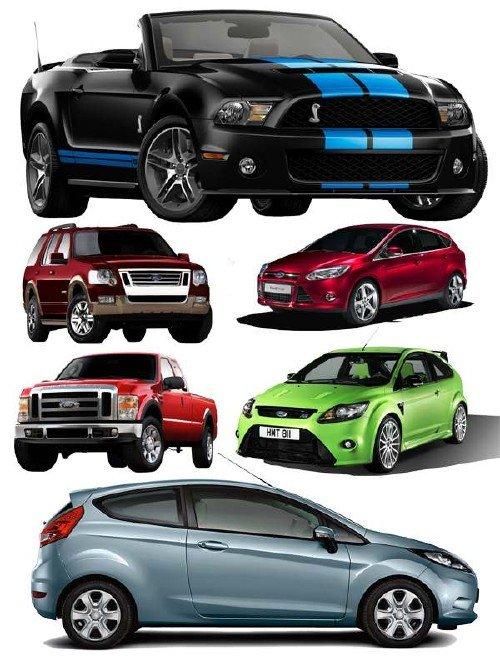 Автомобили марки FORD (прозрачный фон)