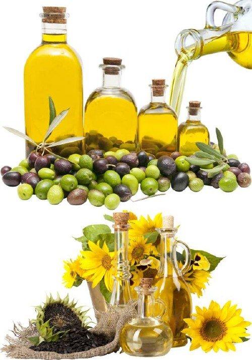 Масло подсолнечное и масло оливковое