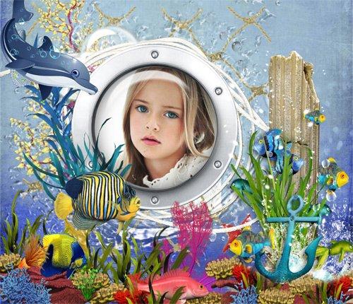 Рамка детская  ''Море - океан ''