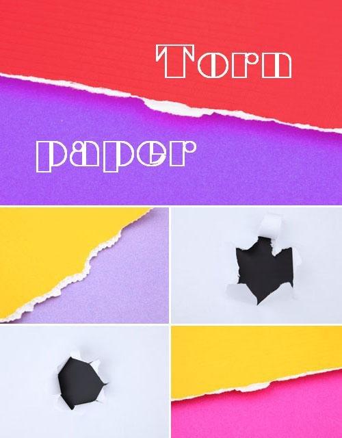 Разорванные листы бумаги