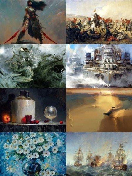 Подборка разных картинок живописи выпуск 30