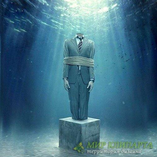 Шаблон для Photoshop - Под водой