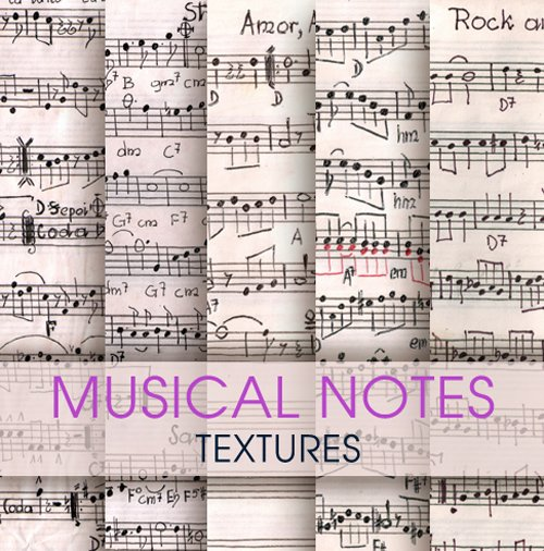 Musical notes - textures