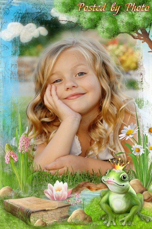 Детская рамка для фото - Принцесса лягушка