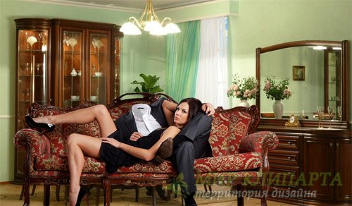 Шаблон для мужчин - Красивая девушка с вами вместе