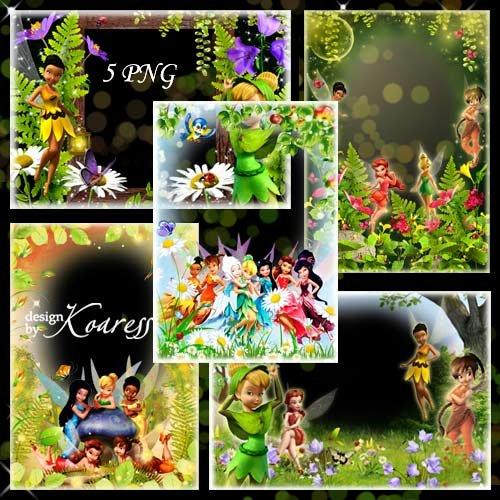 Набор детских png рамок для фотошопа - Волшебная Долина Фей