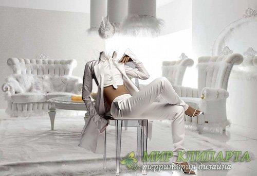 Шаблон женский - В белоснежном костюме