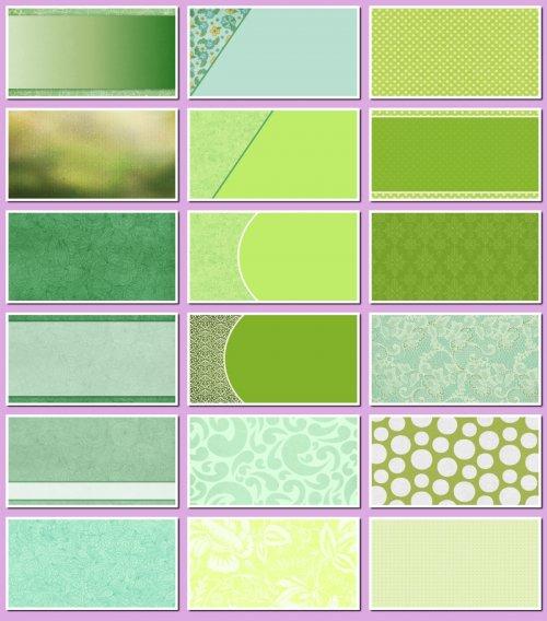 Фоны для визиток и дизайна зеленые. 20 JPEG