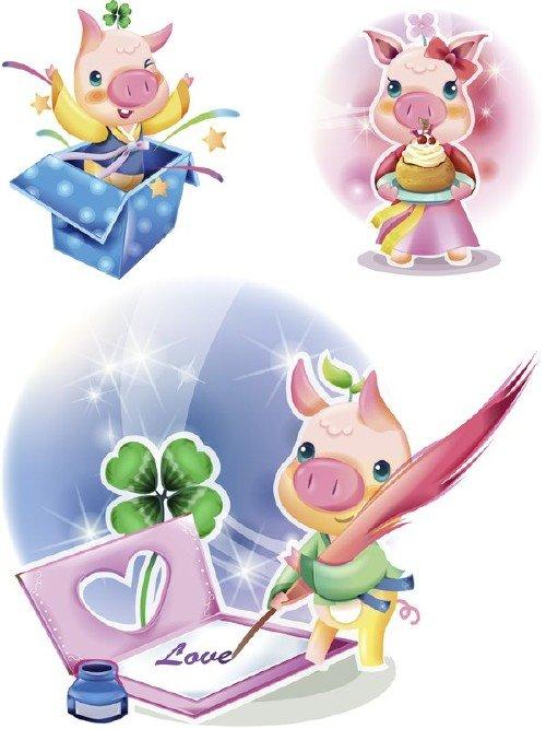Рисованные свиньи и поросята (часть вторая)