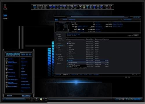 Rockstar Blue - Тема для Windows 8