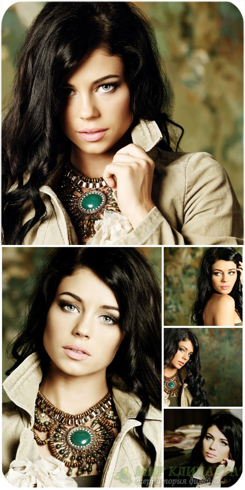 Девушка с красивым колье / Girl with a beautiful necklace - Stock photo