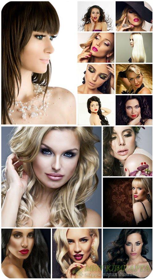 Гламурные женщины / Glamorous woman - Stock Photo