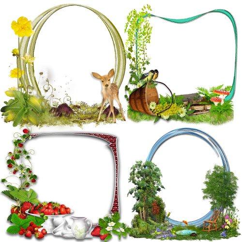 Клипарт Кластеры – рамки ''В саду и в лесу''