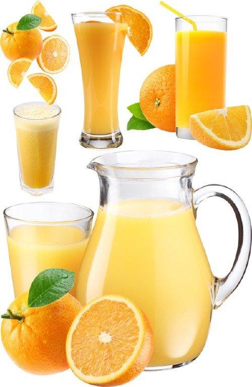 Натуральные соки: Апельсиновый сок (подборка изображений)