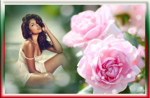 Фоторамка - Опьяняющий аромат роз