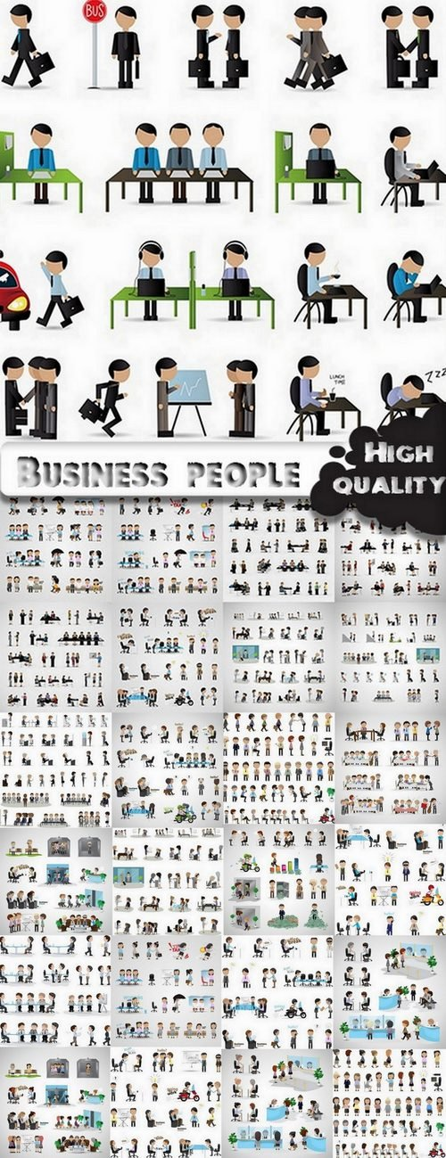 Toons Business people in vector from stock - 25 Eps