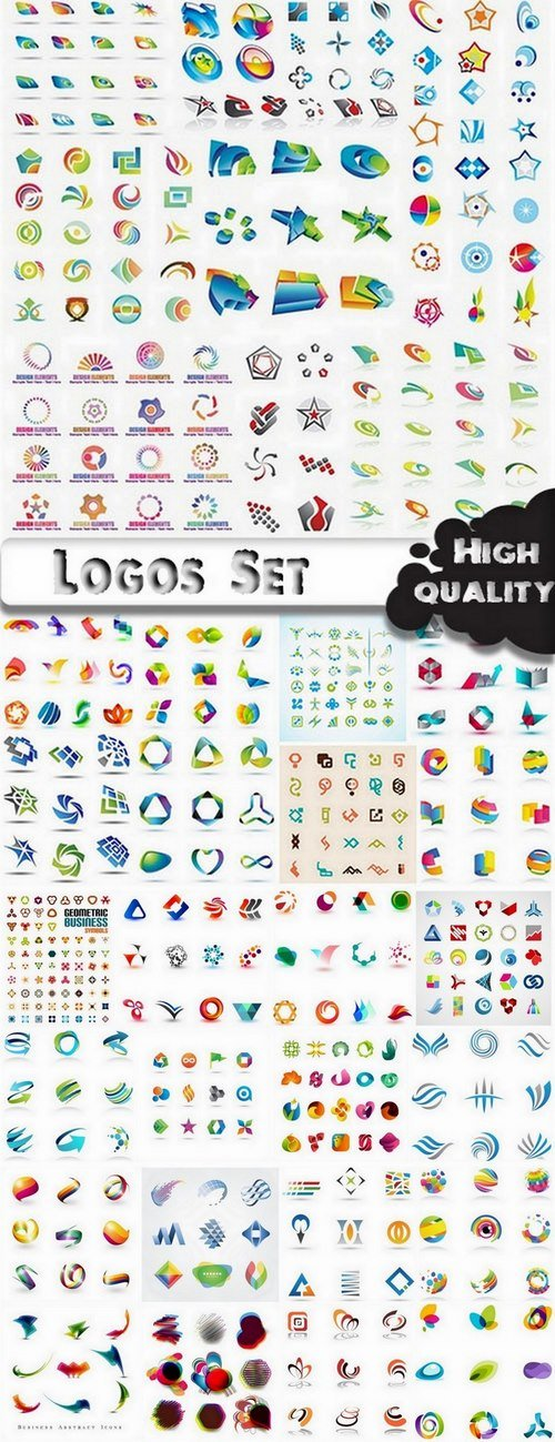 Logo Design in vector Set from stock #20  - 25 Eps
