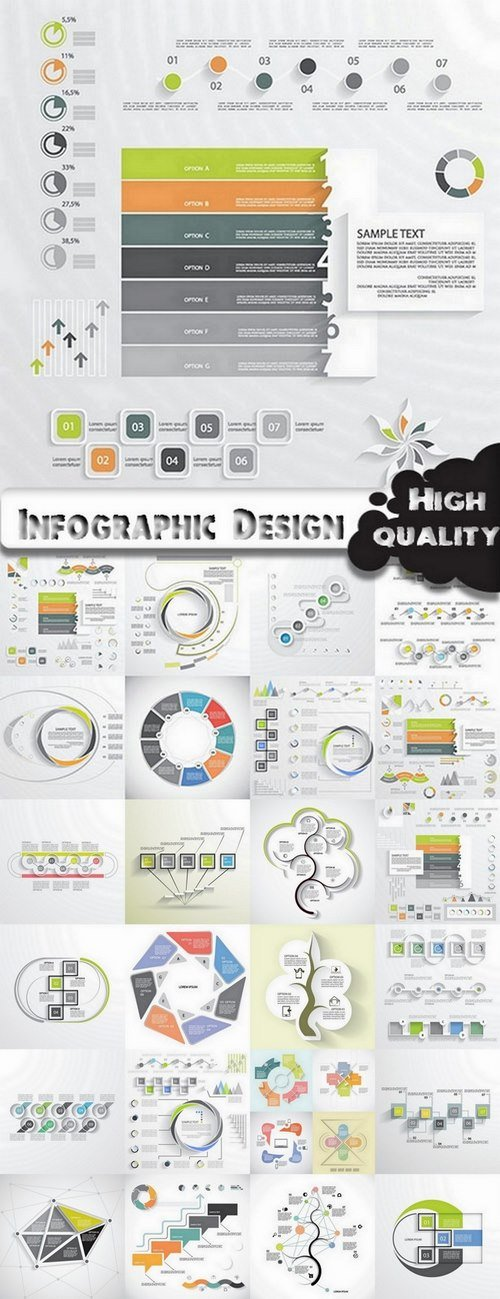 Infographic Design Elements in vector set from stock #63 - 25 Eps