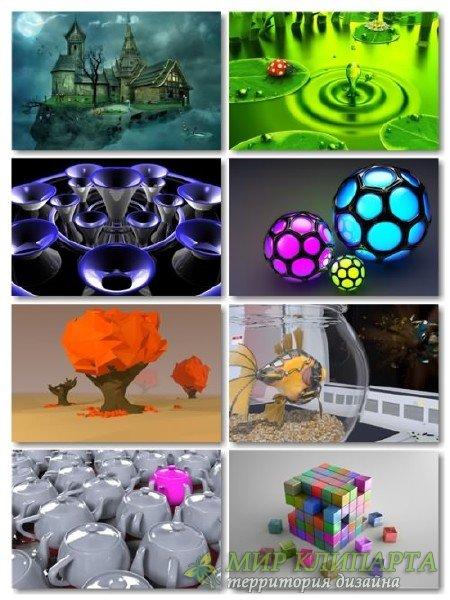 Подборка для рабочего стола 3D графики обоев выпуск 15