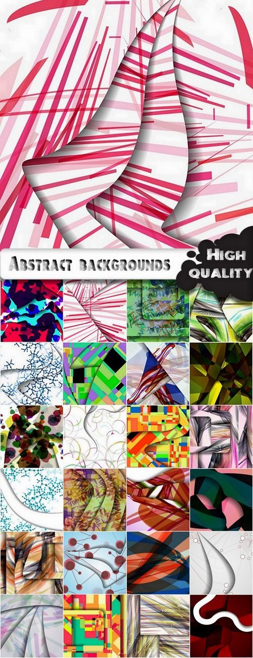 Abstract backgrounds in vector Set from stock #14 - 25 Eps