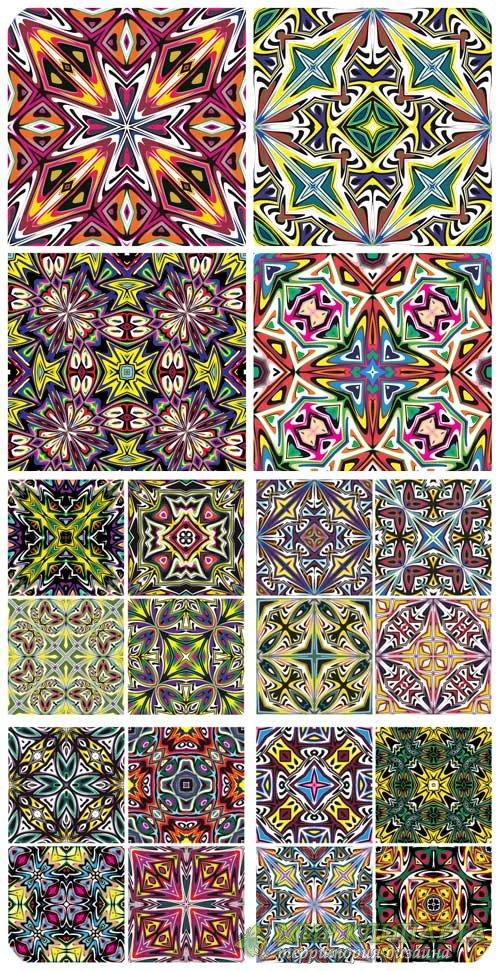 Разноцветные узоры, векторные фоны / Colorful patterns, vector backgrounds